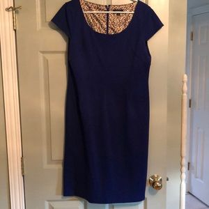 Tahari ASL Royal Blue Cap Sleeve Dress